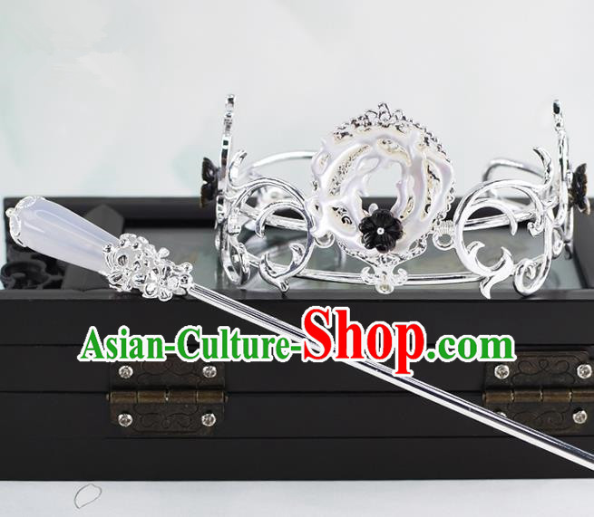 Chinese Traditional Swordsman Hair Accessories Ancient Prince Hairdo Crown for Men