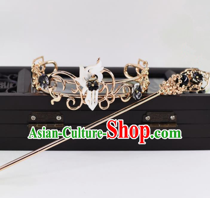 Chinese Traditional Hair Accessories Ancient Swordsman Prince Hairdo Crown for Men