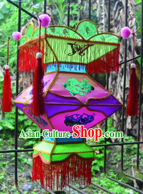 Chinese Handmade Rosy Palace Lanterns Traditional New Year Lantern Ancient Ceiling Lamp