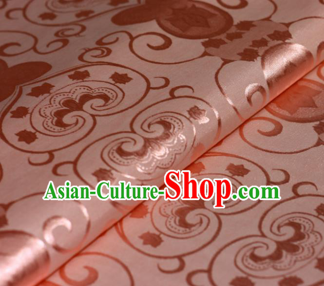 Chinese Traditional Hanfu Royal Pattern Pink Brocade Material Cheongsam Classical Fabric Satin Silk Fabric