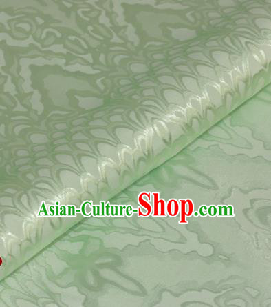 Chinese Traditional Royal Scale Pattern Green Brocade Material Cheongsam Classical Fabric Satin Silk Fabric
