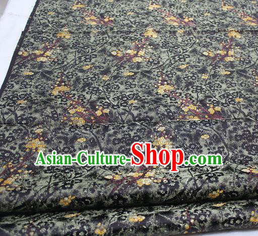 Asian Chinese Traditional Royal Pattern Black Brocade Tang Suit Satin Fabric Material Classical Silk Fabric