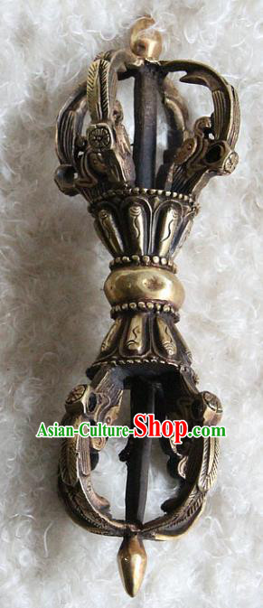 Chinese Traditional Feng Shui Items Buddhism Vajry Pestle Buddhist Copper Musical Instrument