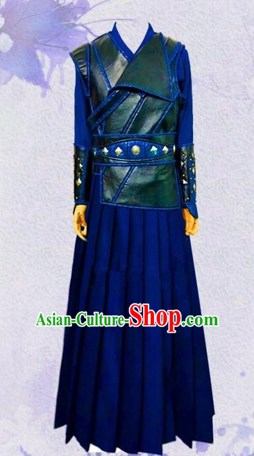 Chinese Ancient Swordswoman Hanfu Dress Traditional Female Assassin Historical Costume for Women