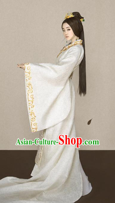 Chinese Ancient Imperial Consort Hanfu Dress Traditional Han Dynasty Court Concubine Historical Costume for Women