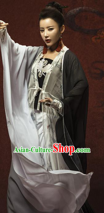 Chinese Ancient Swordswoman Hanfu Dress Tang Dynasty Female Knight Costume for Women