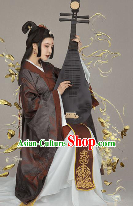 Chinese Ancient Court Queen Hanfu Dress Han Dynasty Imperial Empress Historical Costume for Women