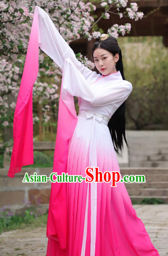 Chinese Ancient Dancer Hanfu Dress Han Dynasty Palace Princess Historical Costume for Women
