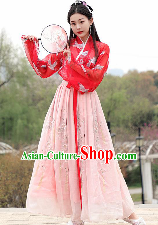Chinese Ancient Hanfu Dress Ming Dynasty Nobility Lady Princess Historical Costume for Women