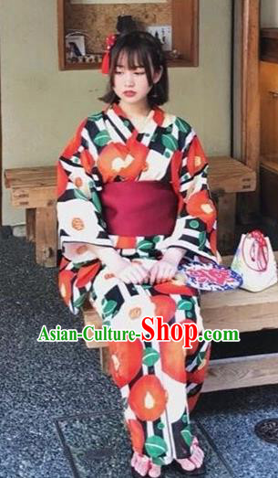 Japanese Traditional Costume Geisha Furisode Kimono Asian Japan Yukata Dress for Women