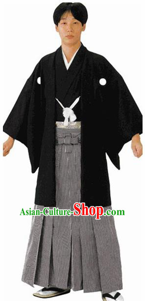 Traditional Japanese Samurai Haori Kimono Asian Japan Handmade Warrior Yukata Costume for Men