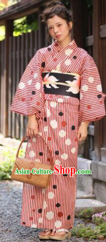 Japanese Traditional Printing Kimono Asian Japan Costume Geisha Yukata Dress for Women