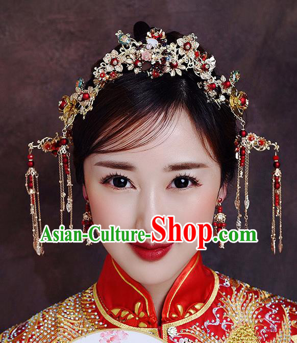 Traditional Chinese Ancient Hair Comb Bride Hairpins Handmade Wedding Hair Accessories for Women