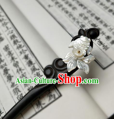 Traditional Chinese Ancient Queen Hanfu Rosewood Hair Clip Hairpins Handmade Wedding Hair Accessories for Women
