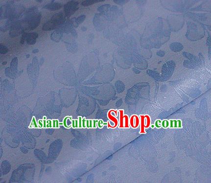 Asian Chinese Traditional Classical Pattern Blue Brocade Cheongsam Silk Fabric Chinese Satin Fabric Material