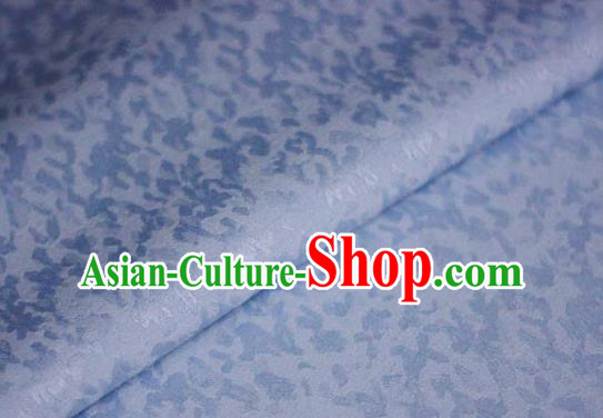 Chinese Classical Pattern Blue Brocade Cheongsam Silk Fabric Chinese Traditional Satin Fabric Material