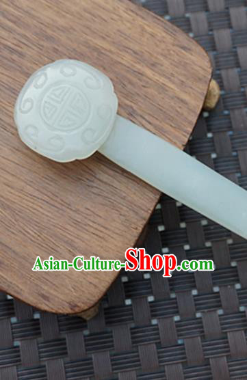 Chinese Handmade Jade Hairpins Carving Jade Hair Clip Hair Accessories for Women for Men