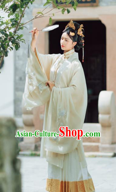 Asian Chinese Ancient Court Dowager Embroidered Hanfu Dress Traditional Ming Dynasty Empress Historical Costume for Women