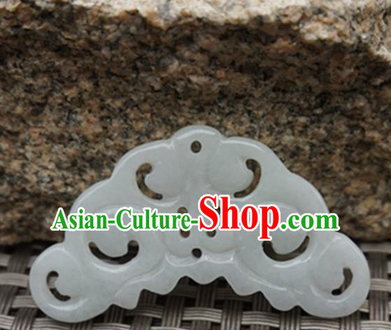 Chinese Handmade Jewelry Accessories Carving Cloud Jade Pendant Ancient Traditional Jade Craft Decoration
