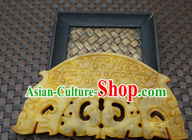 Chinese Ancient Carving Bridge Jade Pendant Traditional Handmade Jade Craft Jewelry Decoration Accessories