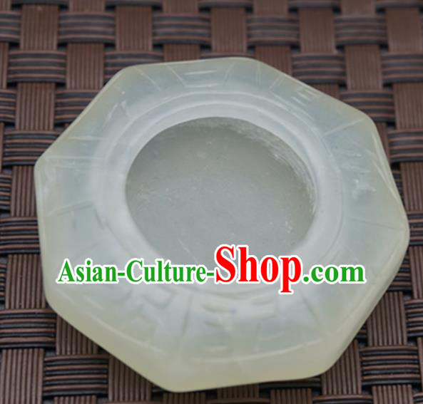Chinese Handmade Jade Pendant Carving Inkstone Jewelry Accessories Ancient Traditional Jade Craft Decoration