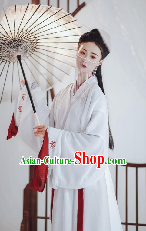 Chinese Ancient Palace Princess Hanfu Dress Traditional Drama Jin Dynasty Court Historical Costume for Women