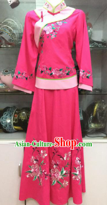 Handmade Chinese Beijing Opera Costume Peking Opera Actress Rosy Dress for Women