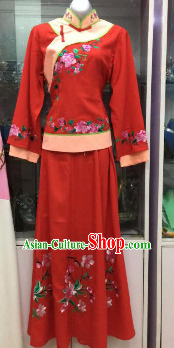 Handmade Chinese Beijing Opera Costume Peking Opera Actress Red Dress for Women