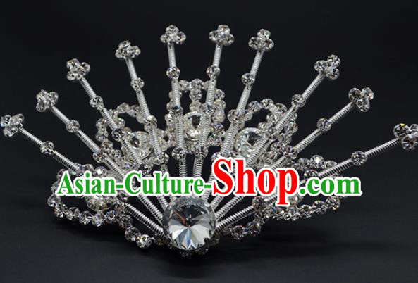 Chinese Handmade Beijing Opera Crystal Hairpins Traditional Ancient Princess Hair Accessories for Women