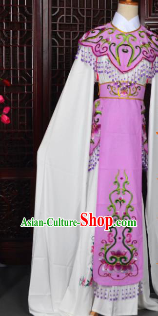 Handmade Chinese Beijing Opera Princess Purple Embroidered Dress Traditional Peking Opera Diva Costume for Women