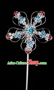 Chinese Handmade Beijing Opera Hair Accessories Traditional Ancient Princess Colorful Crystal Plum Blossom Hairpins for Women