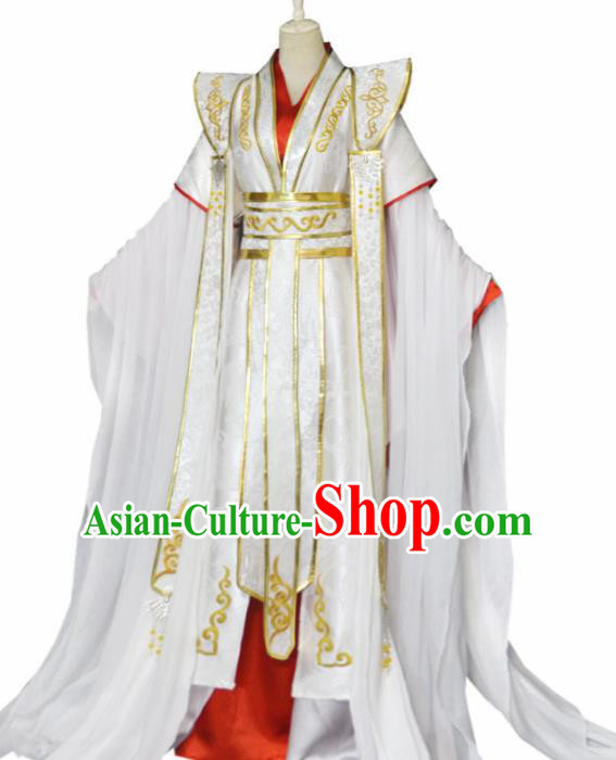 Traditional Chinese Tang Dynasty Swordsman Clothing Ancient Crown Prince Costume for Men