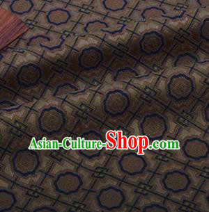 Chinese Traditional Pattern Design Silk Fabric Brown Song Brocade Tang Suit Drapery Material