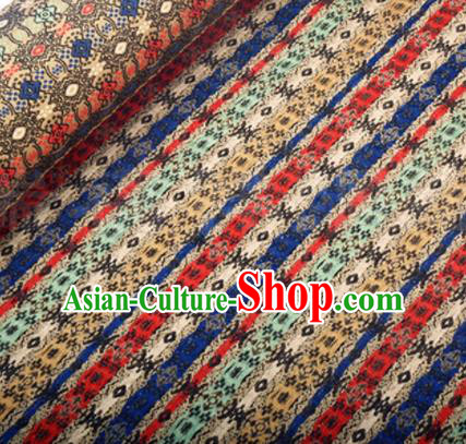 Chinese Traditional Pattern Design Silk Fabric Colorful Song Brocade Tang Suit Drapery Material