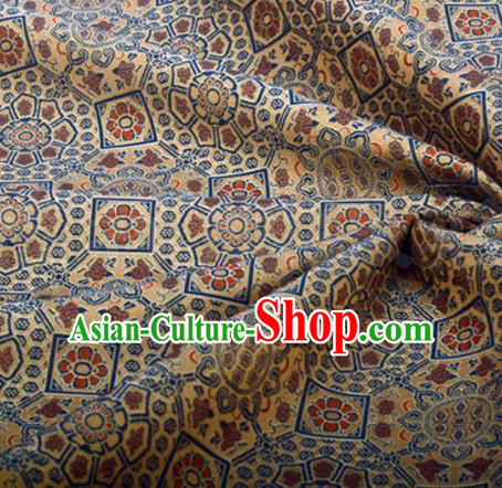 Chinese Traditional Pattern Design Silk Fabric Bronze Song Brocade Tang Suit Drapery Material