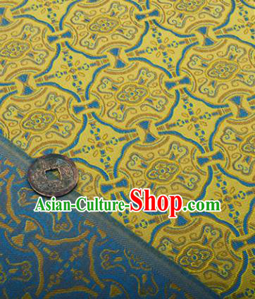 Chinese Traditional Pattern Design Silk Fabric Golden Song Brocade Tang Suit Drapery Material