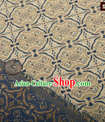 Chinese Traditional Pattern Design Silk Fabric Khaki Song Brocade Tang Suit Drapery Material