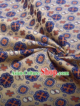 Chinese Traditional Pattern Design Satin Silk Fabric Brown Song Brocade Tang Suit Drapery Material