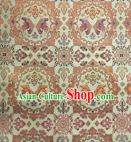 Chinese Traditional Pattern Design Silk Fabric Light Green Brocade Tang Suit Drapery Material