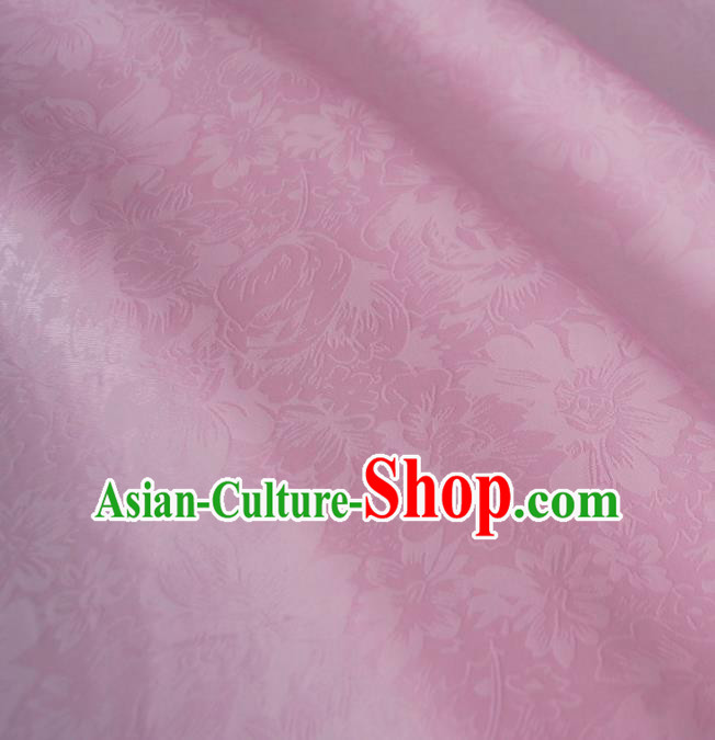 Asian Chinese Traditional Flowers Pattern Design Pink Brocade Fabric Silk Fabric Chinese Fabric Asian Material