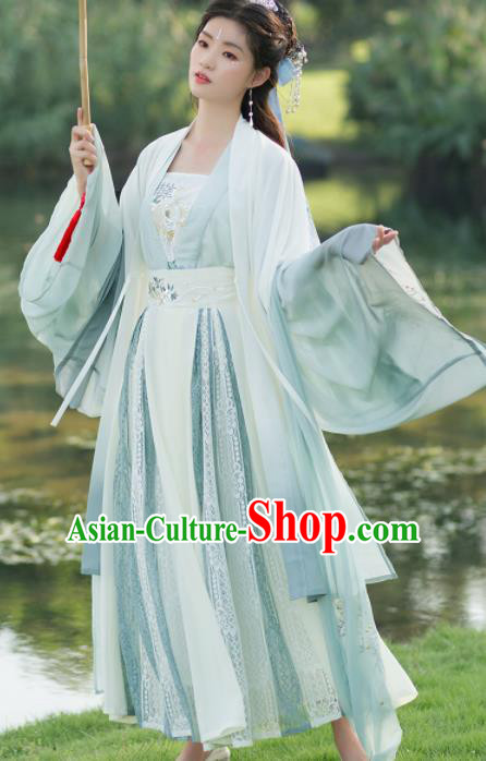 Traditional Chinese Song Dynasty Swordswoman Hanfu Dress Ancient Court Princess Embroidered Historical Costume for Women