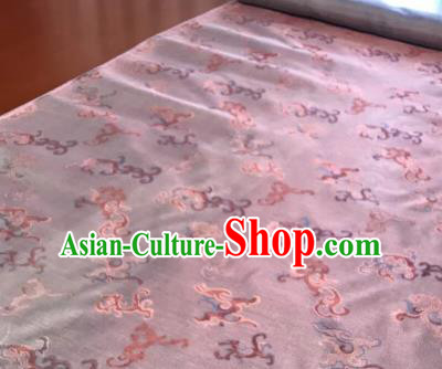 Chinese Traditional Kui Dragons Pattern Design Pink Brocade Fabric Asian Silk Fabric Chinese Fabric Material