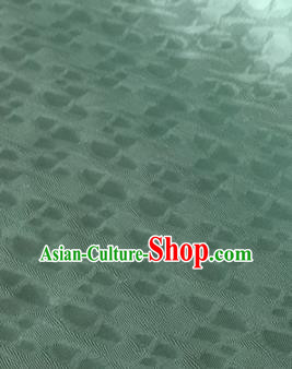 Chinese Traditional Spot Pattern Design Green Brocade Fabric Asian Silk Fabric Chinese Fabric Material
