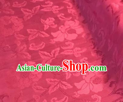 Chinese Traditional Vine Pattern Design Peach Pink Brocade Fabric Asian Silk Fabric Chinese Fabric Material