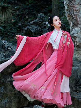 Traditional Chinese Jin Dynasty Royal Princess Hanfu Dress Ancient Court Embroidered Historical Costume for Women