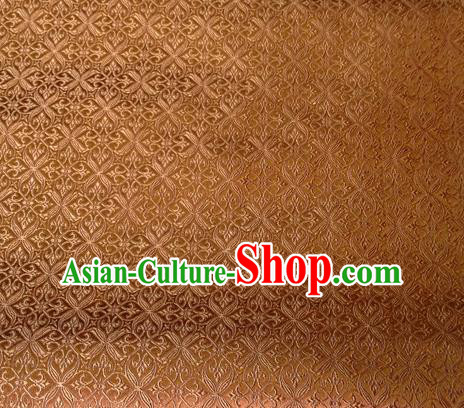 Chinese Classical Pozidriv Pattern Design Golden Brocade Asian Traditional Hanfu Silk Fabric Tang Suit Fabric Material