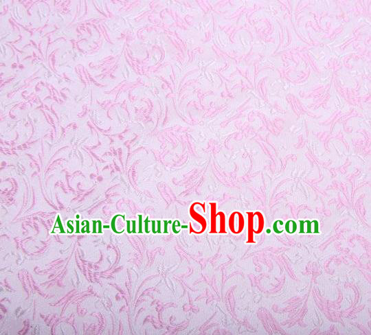 Chinese Classical Pattern Design Pink Brocade Asian Traditional Hanfu Silk Fabric Tang Suit Fabric Material