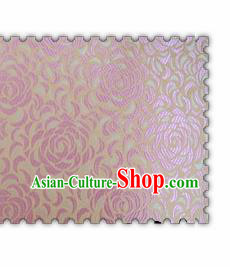 Chinese Classical Pink Chrysanthemum Pattern Design Brocade Asian Traditional Hanfu Silk Fabric Tang Suit Fabric Material