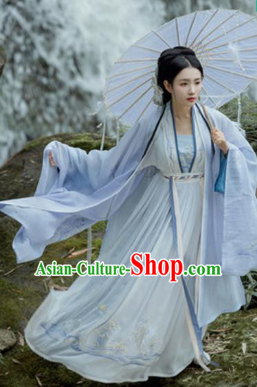 Traditional Chinese Tang Dynasty Royal Dowager Embroidered Hanfu Dress Ancient Drama Palace Lady Historical Costume for Women