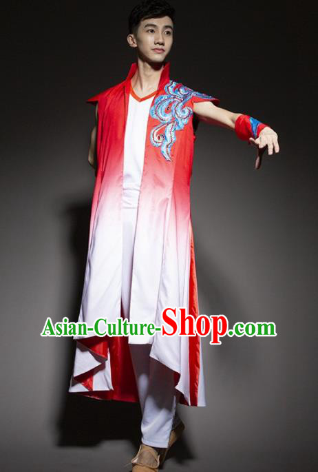 Chinese Traditional National Dance Clothing Classical Dance Stage Performance Costume for Men